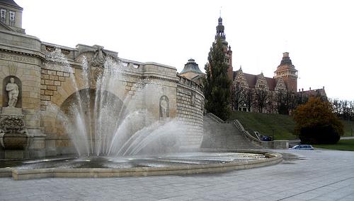 fontanna przy Walach Chrobrego
